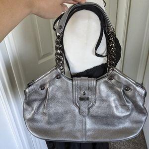 Kenneth Cole silver metallic Shoulder bag